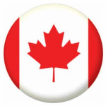 Canada Country Flag 25mm Flat Back